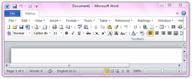The Toolbar In Word 2010